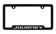 Dodge Journey Black Coated Zinc Bottom Engraved License Plate Frame Holder with Silver Imprint