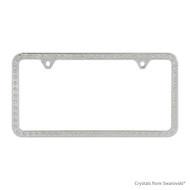 Premium Chrome Plated Zinc License Plate Frame Holder Embellished with Swarovski Crystals (LFZCY301-2H)