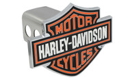 Harley-Davidson Trailer Hitch Cover Plug with 3D Colored Bar & Shield