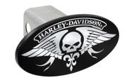 Harley-Davidson Trailer Hitch Cover Plug with 3D Decorative Emblem