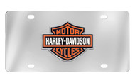 Harley-Davidson 3 Color Bar & Shield Emblem License Plate