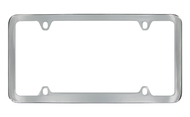 Chrome Plated Plain License Plate Frame 4 Hole (LF328-4H)