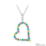 Heart Necklace Made with Swarovski Zirconia (NZ001-M4)