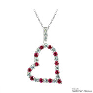 Heart Necklace Made with Swarovski Zirconia (NZ001-M1)