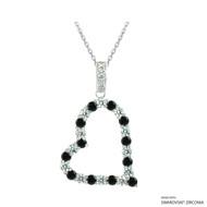 Heart Necklace Made with Swarovski Zirconia (NZ001-M2)