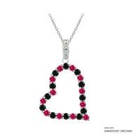 Heart Necklace Made with Swarovski Zirconia (NZ001-M3)