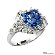 Ring Made with Swarovski Zirconia (RZ002-FB)