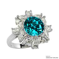 Ring Made with Swarovski Zirconia (RZ003-M)