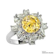 Ring Made with Swarovski Zirconia (RZ003-Y)
