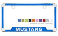 Ford Mustang License Plate Frame with Carbon Fiber Vinyl Insert