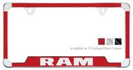 Ram License Plate Frame with Carbon Fiber Vinyl Insert