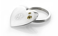 Volkswagen Heart Shaped Key Chain Embellished With Yellow Swarovski® Crystals