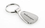 Volkswagen Wordmark Stainless Pear Shape Key Chain