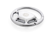 Volkswagen Logo Chrome Plated Steering Wheel Key Chain