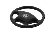 Volkswagen Logo Steering Wheel Key Chain With Black Nickel Finish