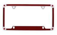 Red Carbon Fiber Vinyl Inlay License Plate Frame Embellished With Swarovski® Crystals