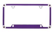 Purple Carbon Fiber Vinyl Inlay License Plate Frame Embellished With Swarovski® Crystals