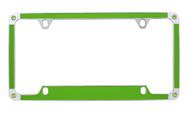 Green Carbon Fiber Vinyl Inlay License Plate Frame Embellished With Swarovski® Crystals