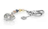 Interchangeable Pearl Heart Key Chain Embellished With Swarovski® Crystals & Swarovski® Crystal Pearls