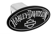 Harley-Davidson® Hitch Cover With Matte Black Powder Coated Oval Emblem