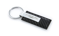 Chrysler Stamped Simulated Carbon Fiber Leather Key Chain (CRKRL-CF)