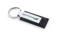 Dodge Stamped Simulated Carbon Fiber Leather Key Chain (DOKRLW-CF)