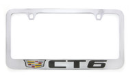 Cadillac CT6 metal license plate frame. Quality craftsmanship and best on the market. Durable for harsh weather. Standard US frame size. Official licensed product.
