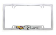 Cadillac logo & wordmark metal license plate frame. Quality craftsmanship and best on the market. Durable for harsh weather. Standard US frame size. Official licensed product.