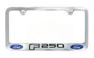 Ford F 250 Chrome Plated Metal License Plate Frame Holder