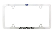 Ford Edge with Logo Thin Rim Chrome Plated Metal License Plate Frame Holder