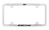 Ford Escape with Blue Logo Thin Rim Chrome Plated Metal License Plate Frame Holder