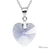 Provence Lavender Xilion Heart Necklace Embellished with Swarovski Crystals (NE3R-283)