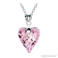 Rosaline Wild Heart Necklace Embellished with Swarovski Crystals (NE4R-508)