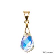 Crystal Aurore Boreale Helix Pendant Embellished with Swarovski Crystals (PE1G-001AB)