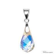 Crystal Aurore Boreale Helix Pendant Embellished with Swarovski Crystals (PE1R-001AB)