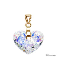 Crystal Aurore Boreale Truly In Love Heart Pendant Embellished with Swarovski Crystals (PE2G-001AB)
