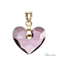 Antique Pink Truly In Love Heart Pendant Embellished with Swarovski Crystals (PE2G-001ANTP)