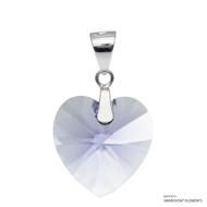 Provence Lavender Xilion Heart Pendant Embellished with Swarovski Crystals (PE3R-283)