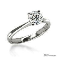 Classic 1 Carat White Solitaire Ring Made with Swarovski Zirconia