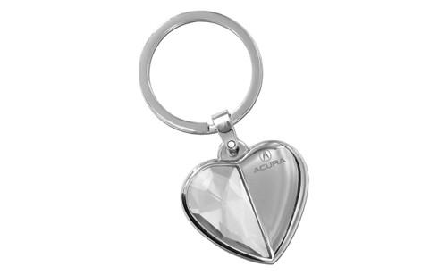 Acura Heart Key Chain Half Metal Half Crystal Keychain - Acura keychain