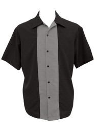 Steady Custom Poplin Shirt - Black/Grey