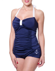 Steady Betty One Piece Swimsuit - Navy