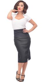 Steady Stretch Denim Skirt - Black