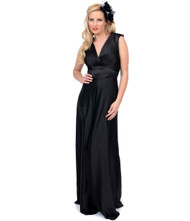 Unique Vintage Harlow Gown - Black