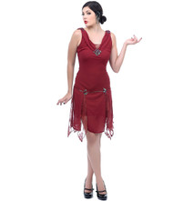 Unique Vintage Hemmingway Flapper - Burgundy