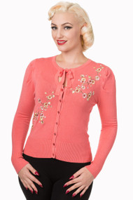 Banned Cardigan Last Dance - Coral