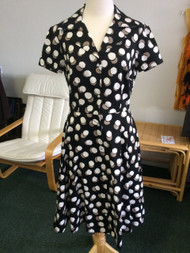 Lennys House Dress - Black Dot