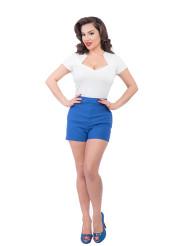 Steady High Waist Bombshell shorts - Blue