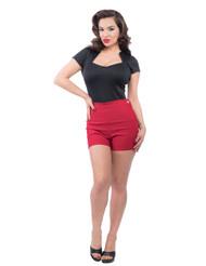 Steady High Waist Bombshell shorts - Red