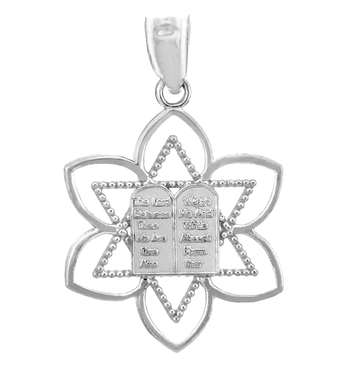 Charms and pendants mizpah star of david white gold pendant jewish charms and pendants mizpah star of david white gold pendant aloadofball Image collections